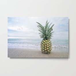 Pineapple on the beach Metal Print