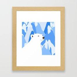 Polar Bear In The Cold Design Framed Art Print