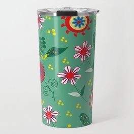 Floral pattern # C10 Travel Mug