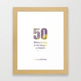 AgeIsJustANumber-50-PurpleThunderB Framed Art Print