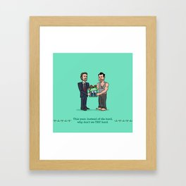 Hans and John Framed Art Print