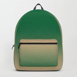 Tan Brown to Cadmium Green Bilinear Gradient Backpack