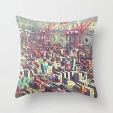 Pier Tetris Throw Pillow