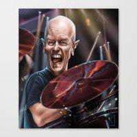 chris evans Canvas Prints featuring Chris Slade by AndreKoeks