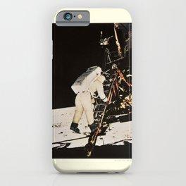 apollo xi astronaut aldrin descends vintage Poster iPhone Case