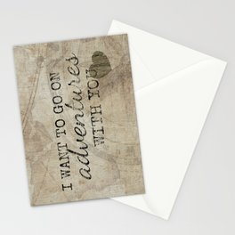 I Want to Go On Adventures With You Stationery Cards