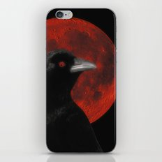Crow And The Red Glow Moon iPhone & iPod Skin