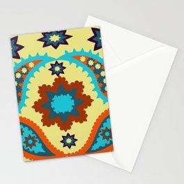 pattern with leaves and flowers paisley style Stationery Cards