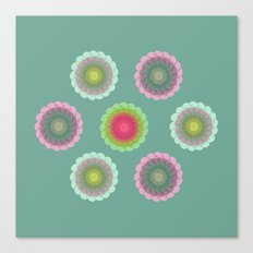 transparent floral pattern 3 Canvas Print