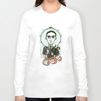 lovecraft Long Sleeve T-shirts featuring Lovecraft Holy Writer by roberto lanznaster