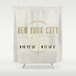 New York City Vintage Location Design Shower Curtain
