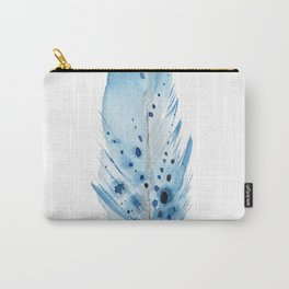 Blue Feather. Carry-All Pouch