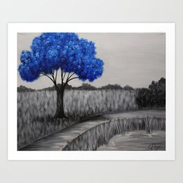 Sapphire Tree Art Print