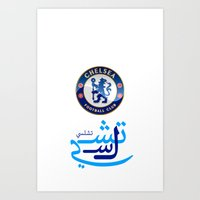chelsea Art Prints featuring Chelsea by Sport_Designs