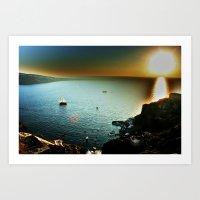 Oia Sunset Art Print