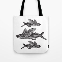 Flying Fish | Black and White Tote Bag