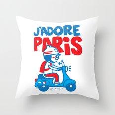 J´Adore Paris Throw Pillow