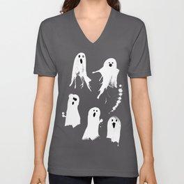 Ghost Splats Unisex V-Neck