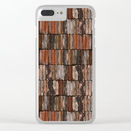 Colored Old Painted Wood Planks Clear iPhone Case