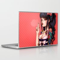 rockabilly Laptop & iPad Skins featuring Rockabilly Girl ! by Christine Alcouffe