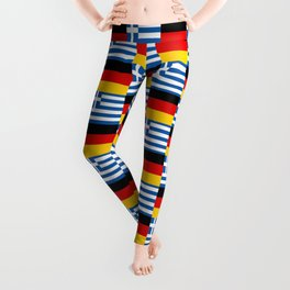 Mix of flag : Germany and greece Leggings