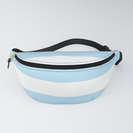 Stripes (Parallel Lines) - Blue White Fanny Pack