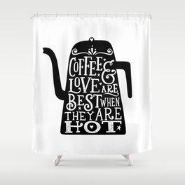 COFFEE & LOVE Shower Curtain