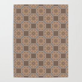 Beach Tiled Pattern Poster