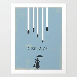 C´est la vie... Art Print