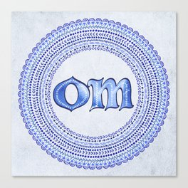 Blue Om Canvas Print