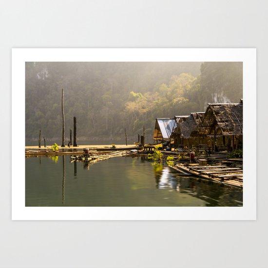 Morning in village Art Print
