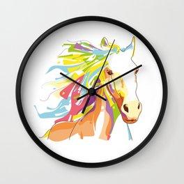 Horse Colorful Variation Wall Clock