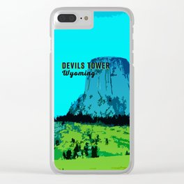 Devils Tower Wyoming Clear iPhone Case