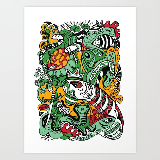 Snake - 12 Animal Signs Art Print
