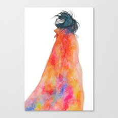 The Girl with the starry mantle Canvas Print