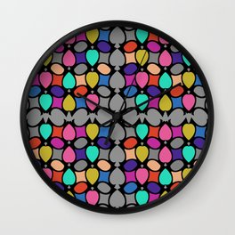 COLORFUL DECORATION ORNAMENT Wall Clock