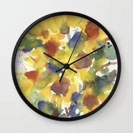 Yellow Sunflower Splash Wall Clock