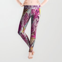 Indian Summer Feathers Leggings
