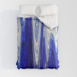 Zigzag Cobalt Blue Comforters