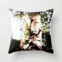 birch Throw Pillows featuring birch by Eva Lesko