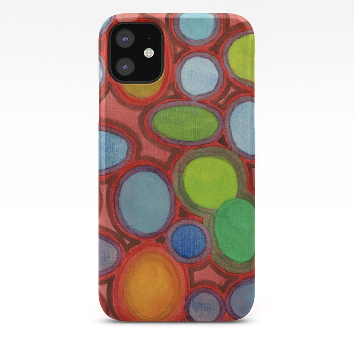 Abstract Moving Round Shapes Pattern Iphone Case By Heidicapitaine