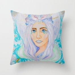 Queen of the Sea Throw Pillow