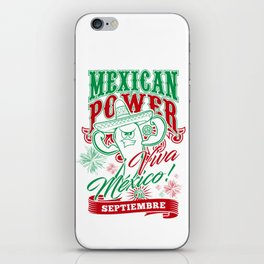 Mexican Power Color iPhone Skin