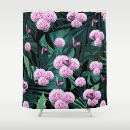 Tropical Peonies Dream #1 #floral #foliage #decor #art #society6 Shower Curtain