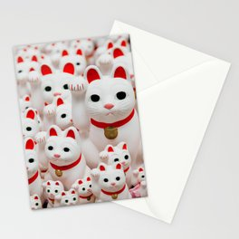 Lucky Cats Stationery Cards