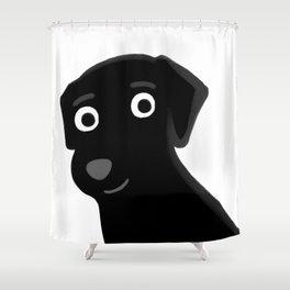 Black Lab - Cute Dog Series Shower Curtain