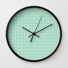 Grid mint Wall Clock