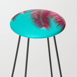 Neon Palm Counter Stool