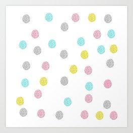 Fun Polka Dot Pattern Art Print
