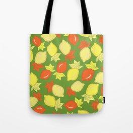 Tumbled Lemons Pattern Tote Bag